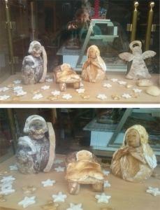 Belén de pan. panadería Araceli (Briviesca)